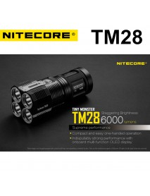 NiteCore TM28 CREE XHP35 HI LED 6000 Lumens Flashlight (4 x 18650)