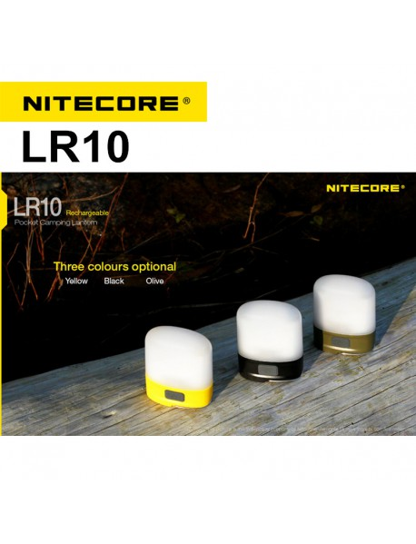 NiteCore LR10 HIGH CRI LED 250 Lumens Rechargeable Pocket Camping Lantern