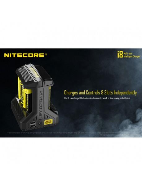 NiteCore i8 Multi-Slot for Intelligent Charger - Black
