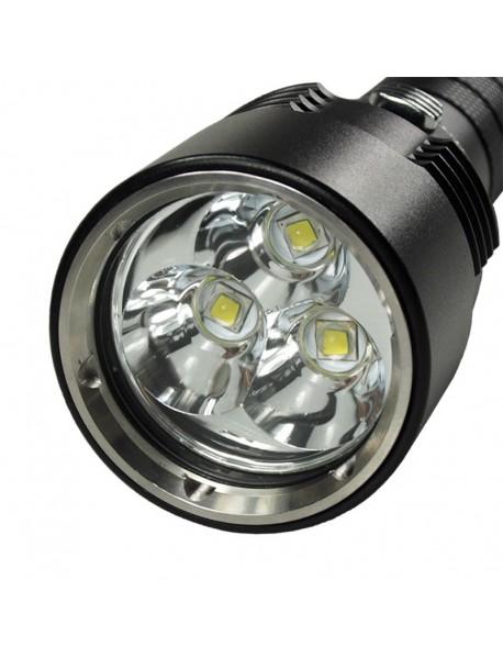 3 x Cree XM-L2 U2 LED Stepless Dimming 3500 Lumens Diving Flashlight (2 x18650)