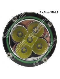 KDD502 5 x Cree XM-L2 U2 5-Mode 4800 Lumens Diving LED Flashlight