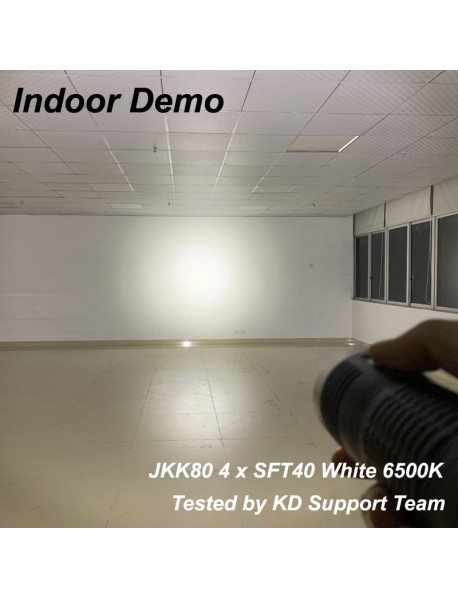 JKK80 4 x SFT-40 8000 Lumens USB Type-C Rechargeable 18650 Flashlight with Power Bank (3x18650)