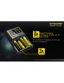 NiteCore SC4 Superb Charger with 4 Slots - Black
