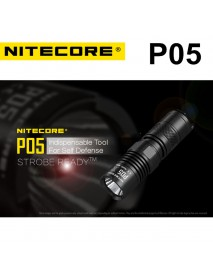 NiteCore P05 CREE XM-L2 U2 LED 4-Mode 460 Lumens Flashlight (1 x RCR123A / 1 x CR123A)