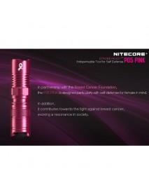 NiteCore P05 PINK CREE XM-L2 U2 LED 4-Mode 460 Lumens Flashlight (1 x RCR123A / 1 x CR123A)