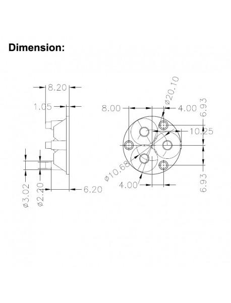3-in-1 20.1mm (Dia.) x 8.2mm (H) Triple Optical Lens (1 pc)