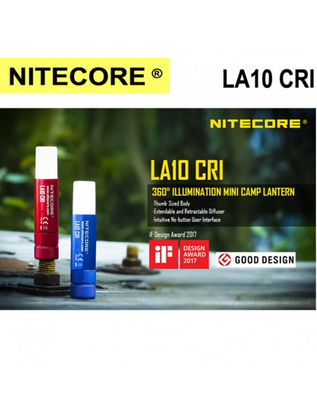 NiteCore LA10 CRI Cree Nichia 219B LED 3-Mode 85 Lumens Lantern LED Magnetic Flashlight (1 x AA)