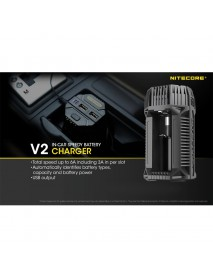 NiteCore V2  In-car Speedy Battery Charger