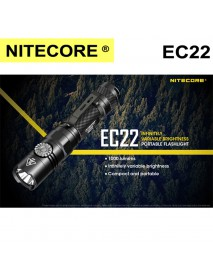 NiteCore EC22 CREE XP-L HD V6 LED 2-Mode 1000Lumens SMO Flashlight(1 × 18650 ,2 × CR123 ,2 x RCR123)