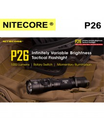NiteCore P26 CREE XP-L HI V3 LED 3-Mode 1000Lumens SMO Flashlight(1 × 18650 ,2 × CR123 ,2 x RCR123)