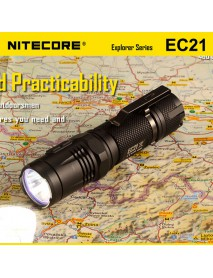 NiteCore EC21 Cree XP-G2 R5 460 Lumens White Light SMO LED Flashlight (1 x 18650 / 2 x CR123)