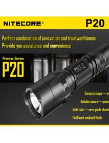 NiteCore P20 Cree XM-L2 T6 800 Lumens White Light SMO LED Flashlight (1 x 18650 / 2 x CR123)