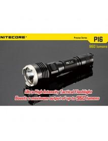 NiteCore P16 Cree XM - L2 T6 960 Lumens White Light SMO LED Flashlight (1 x 18650 / 2 x CR123)