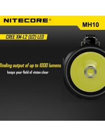 NiteCore MH10 Cree XM-L2 U2 1000 Lumens SMO Rechargeable LED Flashlight (1 x 18650 / 2 x CR123)