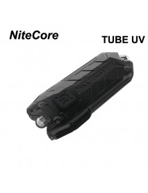 Nitecore TUBE UV 365nm USB Rechargeable UltraViolet Keychain Light - Black