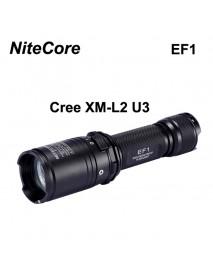 NiteCore EF1 Cree XM-L2 U3 830 Lumens White Light SMO LED Flashlight (1 x 18650 / 2 x CR123)