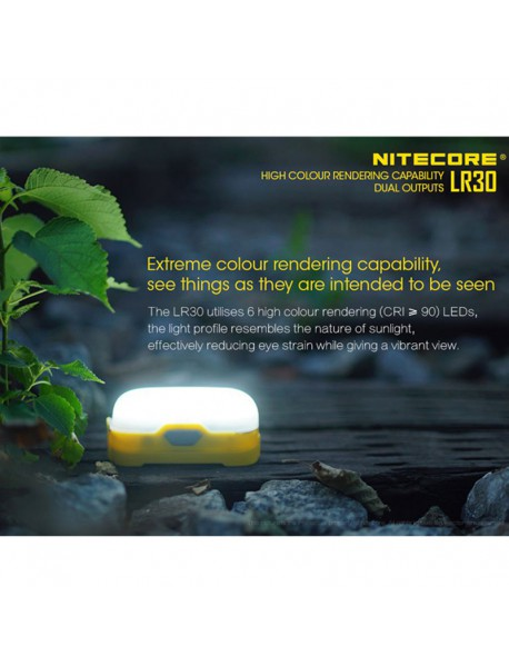 NiteCore LR30 HIGH CRI LED 4-Mode 205 Lumens Lantern (1 x 18650 / 2 x CR123)