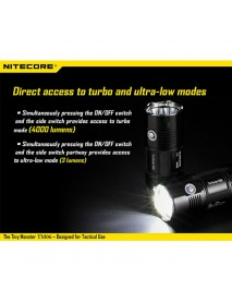 NiteCore TM06 CREE XM-L2 U3 LED 4000 Lumens Flashlight (4 x 18650)