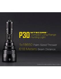 NiteCore P30 CREE XP-L HI V3 LED 1000 Lumens 8-Mode Flashlight (1 x 18650 / 2 x CR123A)