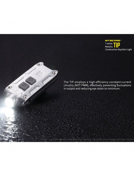 NiteCore TIP CRI Nichia 219B LED 240 Lumens 4-Mode USB Rechargeable LED Keychain