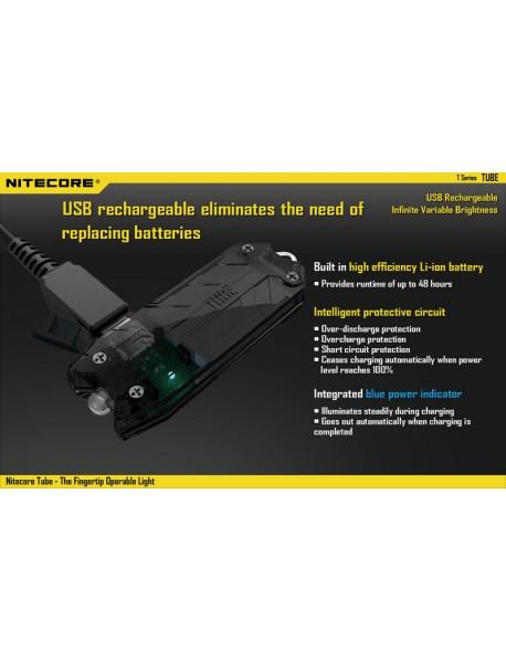 Nitecore TUBE USB Rechargeable LED Keychain