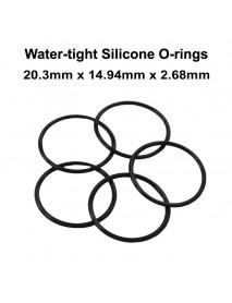20.3mm x 14.94mm x 2.68mm Water-tight O-Ring Seals - Black (5 pcs)