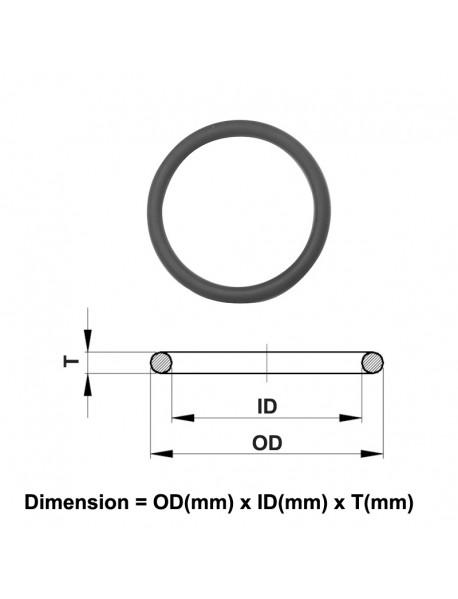 1mm - 10mm Water-tight O-Ring Seals - Black (5 PCS)