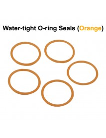 Water-tight O-Ring Seals - Orange (5 PCS)