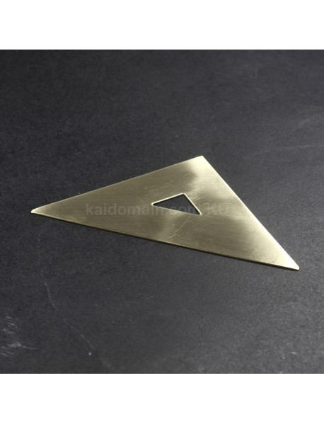 45 Degree 10cm (L) Brass Equilateral Triangle Ruler (1 pc)