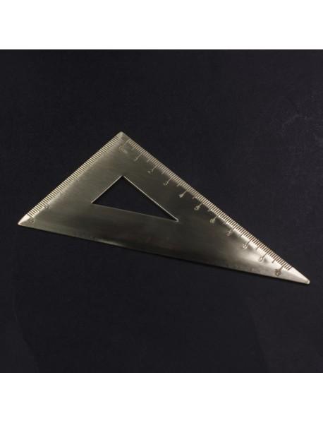 10cm(L) Brass Triangular Ruler (1 pc)