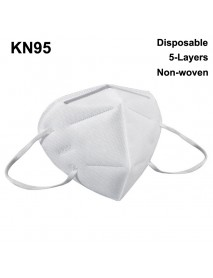 Disposable KN95 Mask 5-Layers Non-woven Protective Face Mask Non-Medical ( 5 pcs )