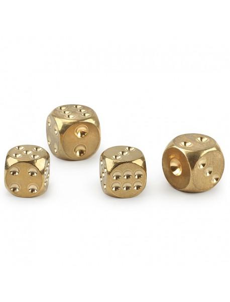 Brass Dice (Size: 15mm / 13mm) (1 pc)