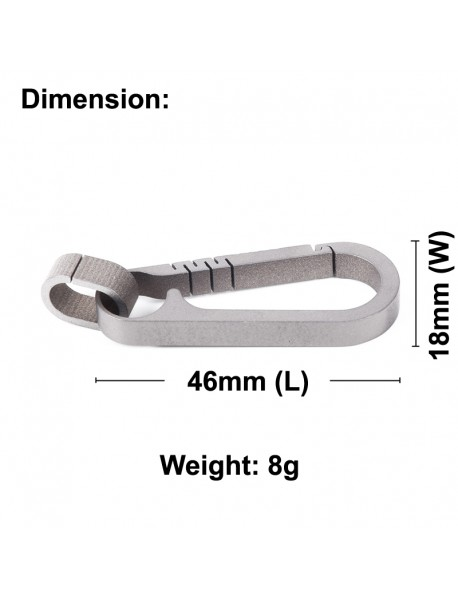 EDC 35mm Titanium Carabiner Keychain Clip (1 pc)