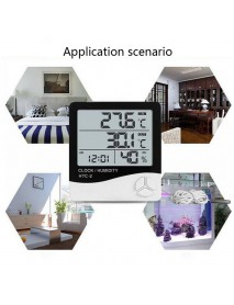 HTC-2 LCD Digital Temperature Humidity with Clock (1 pc)