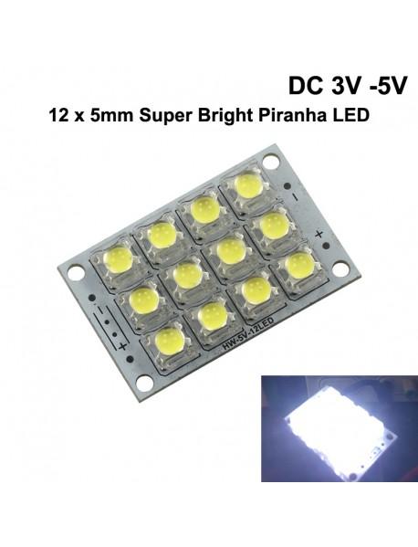 DC 3V - 5V 12 x LED Piranha LED Board (1 pc)