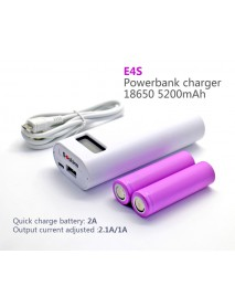Soshine E4S 2 x 18650 Portable Power Bank DIY With Micro USB Cable