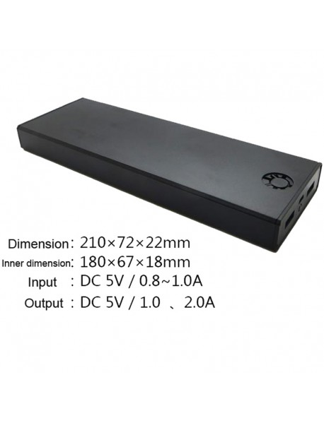 10 x 18650 Power Bank DIY Components with Dual USB Output