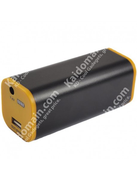 YD018 4 x 18650 7.4V 8800mAh Power Bank - Black