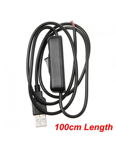 USB to 2 Pin Wire Power Cable with Switch ( 100cm Length )