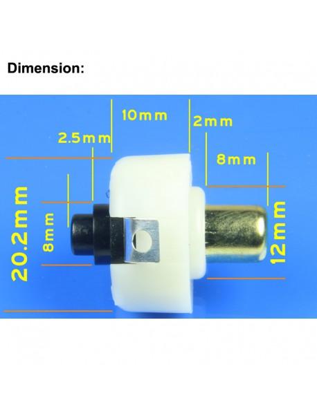 Flashlight Reverse Clicky Switch 20mm (D) x 24mm (H) (2 pcs)