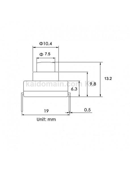 18mm(L) x 13mm(W) x 13.2mm(H) AC250V 6A DIY LED Flashlight Forward Clicky Switch (5 pcs)