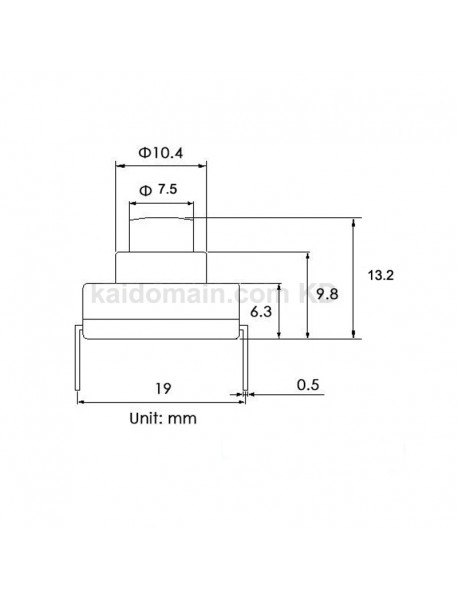 18mm(L) x 13mm(W) x 13.2mm(H) AC250V 6A Flashlight Forward Clicky Switch (5 pcs)