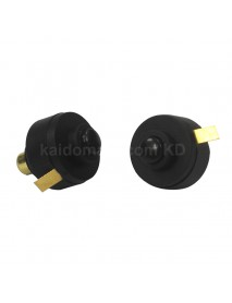 15mm (D) x 21mm (H) Reverse Clicky Switch for LED Flashlight - Black ( 2pcs )