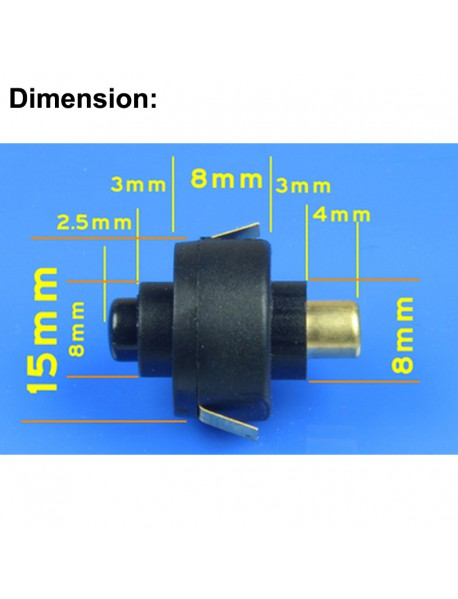 15mm (D) x 21mm (H) Reverse Clicky Switch for LED Flashlight - Black ( 2pcs )