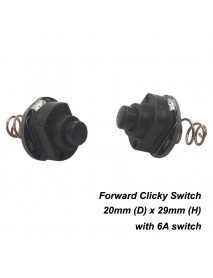 KDLITKER 20mm 6A Forward Clicky Switch Module (2 pcs)