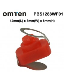 OmTen PBS1288WF01 12mm(L) x 8mm(W) x 8mm(H) LED Flashlight Clicky Switch - Orange (5 pcs)