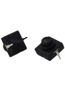 Reverse Clicky Switch 12mm (L) x 12mm (W) - Black button (5 pcs)