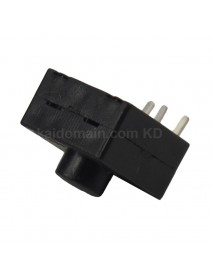 OMTEN PBS1203B 12mm(L) 12mm(W) x 9.2mm(H) LED Flashlight Reverse Clicky Switch - Black (5 pcs)