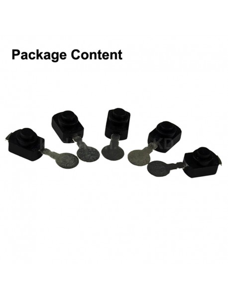 Omten PBS1288CU 12mm(L) x 8mm(W) x 8mm(H) LED Flashlight Clicky Switch (5 pcs)