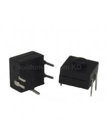 OmTen PBS1204CD 12mm(L) x 12mm(W) x 9mm(H) LED Flashlight Clicky Switch - Black (5 pcs)